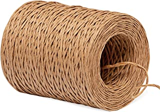 Sweelov 150M Papierkordel Papierdraht Natur Dekodraht zum Basteln Floristik Durchmesser 2mm Braun