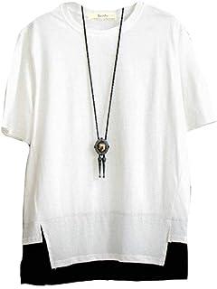 [ Smaids x Smile (スマイズ スマイル) ] 重ね着風 Tシャツ 半袖 シャツ 無地 ゆったり かっこいい おしゃれ メンズ