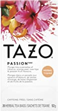TAZO Passion Enveloped Hot Tea Bags Herbal, Caffeine Free, Non GMO, 24 count, Pack of 6