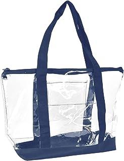 Clear Shopping Bag Security Work Tote Shoulder Bag Womens Handbag