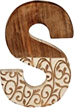 Aheli Wooden Decorative Hanging Wall Alphabet Letters for Children Baby Name Girls Bedroom Wedding Birthday Party Home Decor- Letter S