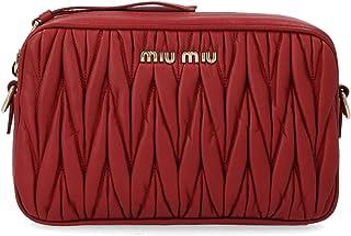 Miu Miu Women's 5BH118OOMN88F068Z Red Leather Clutch