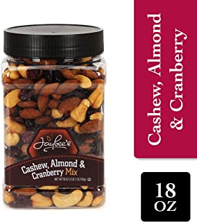 Jaybee's Nuts Unsalted Mixed Nuts - (18 oz) Cashew Almond Cranberry Mix Great for Holiday Gift Giving or As Everyday Snack Certified Kosher Featuring Cashews Almonds & Cranberries