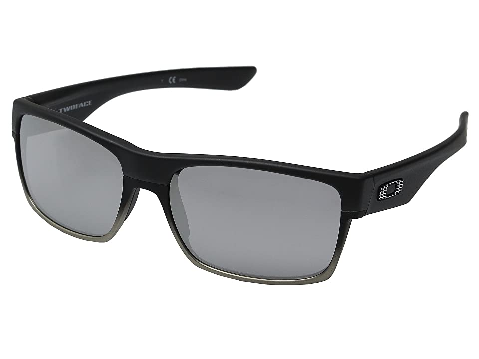 66c2e60c8fb Oakley Two Face (Machinist Matte Black Chrome Iridium) Sport Sunglasses
