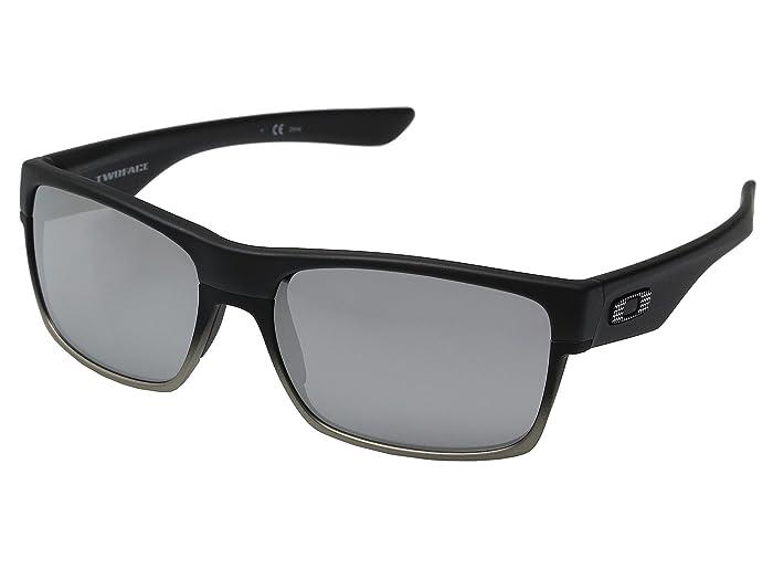 Oakley Two Face (Machinist Matte Black/Chrome Iridium) Sport Sunglasses