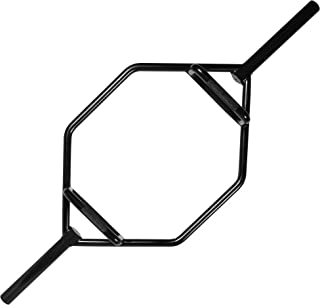 CAP Barbell Mega Olympic Trap Bar, Shrug bar, Hex bar with Combo Neutral Grips and Black Finish