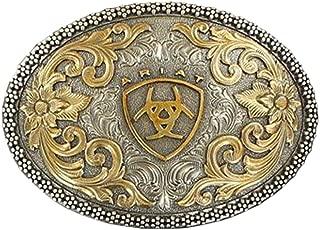 Oval Filigree Shield Berry Edge Silver Gold Western Belt Buckle