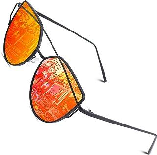 CGID lunettes de soleil polarisées pour femmes, lunettes de soleil carrées oeil de chat pour femme M906