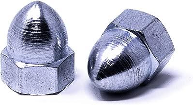 Zinc Plated Steel Acorn Nut, High Crown, USA Made, 1/2