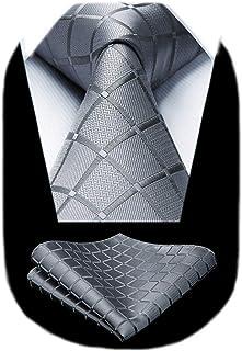 گردنبند مردانه راه راه کلاسیک دار بافته شده HISDERN