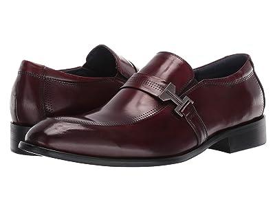 Stacy Adams Jonas Moc Toe Slip On Loafer (Burgundy) Men