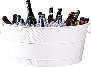 BREKX White Aspen Hammered Galvanized Beverage Tub - 25 Quarts