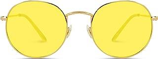WearMe Pro - Polarized Round Retro Tinted Lens Metal Frame Sunglasses