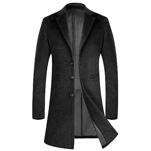 Super Mens Long Wool Coat Amazon Co Uk Schematic Wiring Diagrams Amerangerunnerswayorg