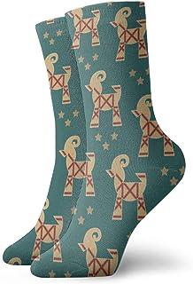 wwoman, Calcetines de vestir estampados para hombre y mujer Calcetines de cabra coloridos divertidos y divertidos de la novedad 30 cm