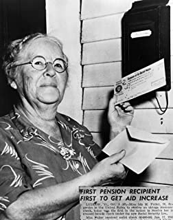 Social Security 1940 Nida May Fuller (1874-1975) Of Ludlow Vermont The First Beneficiary Under The Social Security System ...
