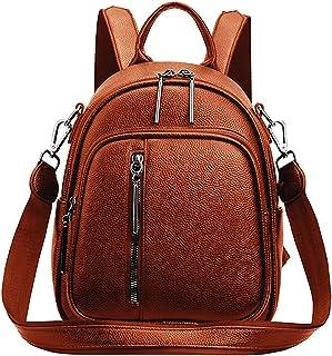 حقيبة ظهر نسائية أنيقة حقيبة ظهر صغيرة متعددة الأغراض بتصميم حقائب اليد وحقيبة كتف من جلد البولي يوريثان حقيبة السفر