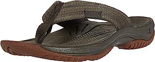 KEEN Men's KONA FLIP Flat Sandal, Green, 11.5