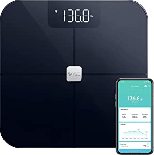 Wyze Scale, Bluetooth Body Fat Scale and Smart Body Composition Monitor, Smart BMI Scale, Heart Rate Tracking, Body Fat Pe...
