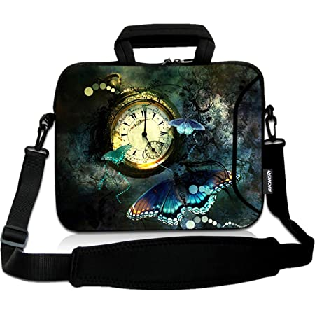 Laptop Sleeve Case,Halloween Haunted Castle Full Moon Night 14-14.5 inch Briefcase Messenger Notebook Computer Bag