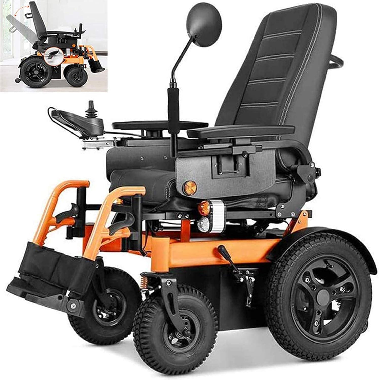 AWJ Silla de Ruedas eléctrica, 1000 W, navegación Continua, 45 km, Completamente automática, Ligera, Plegable, para discapacitados, Cuatro Rondas, Silla de Ruedas Todo Terreno Inteligente