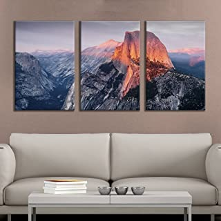 Sponsored Ad - wall26 - 3 Panel Canvas Wall Art - Majestic Natural Landscape Triptych Canvas Series - Yosemite at Sunrise ...