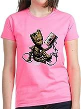 CafePress GOTG Groot Cassette Womens Cotton T-Shirt