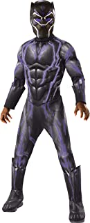 Costume Light-Up Black Panther, Black Panther Movie Halloween Costume for Boys with Included Accessories, Small
