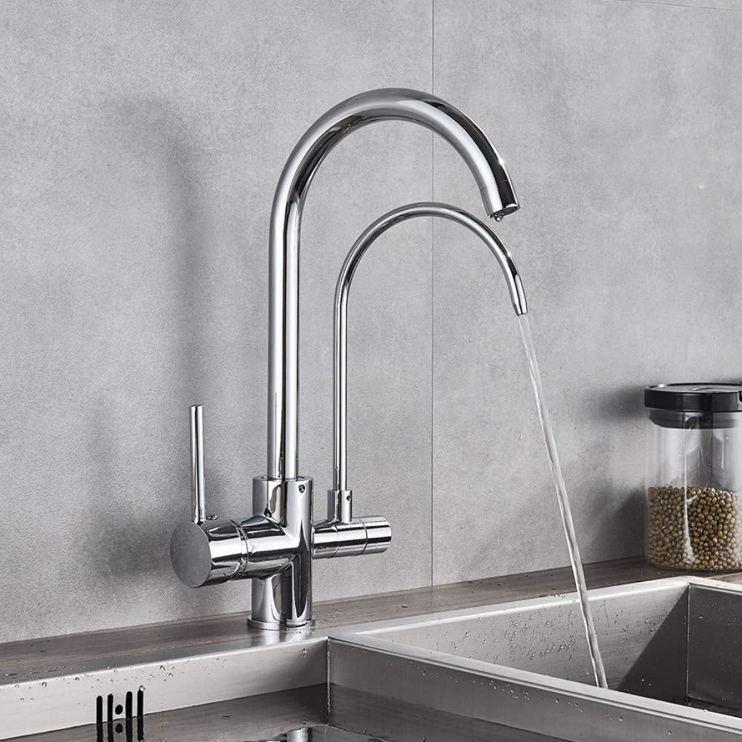 Ayhuir Purification Kitchen Faucets Bathroom Kitchen Mixer Tap 360 redation with Water Filter Features Mixer Tap Crane for Kitchen