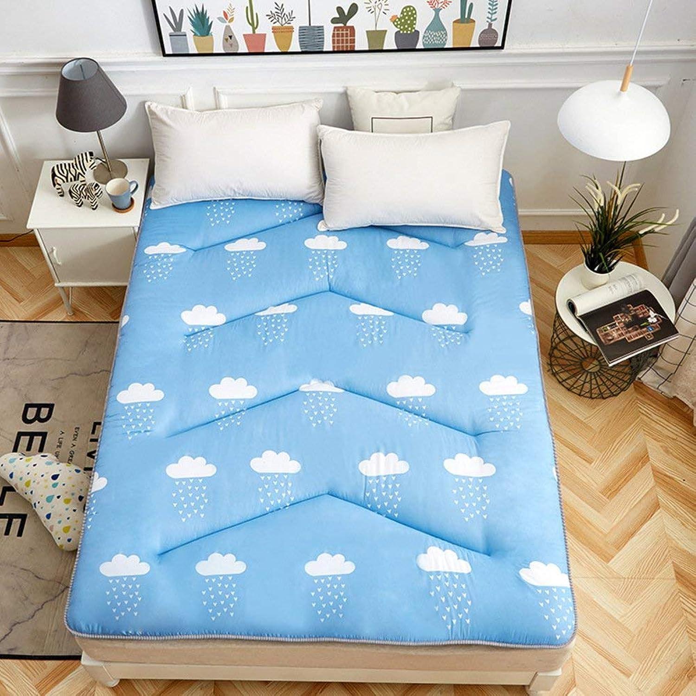 EEvER Schlafmatte Bequeme Matratze Tragbare Faltbare Tatami-Fumatte, Matratze Topper Knigin-Knig traditionelle japanische Futon waschbar-C 150x200 cm (59x79 Zoll)