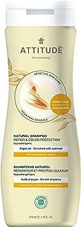 ATTITUDE Shampoo for Sensitive Skin, Safe for Color-Treated Hair, EWG Verified, Hypoallergenic, Argan Oil, 16 Fl. Oz.