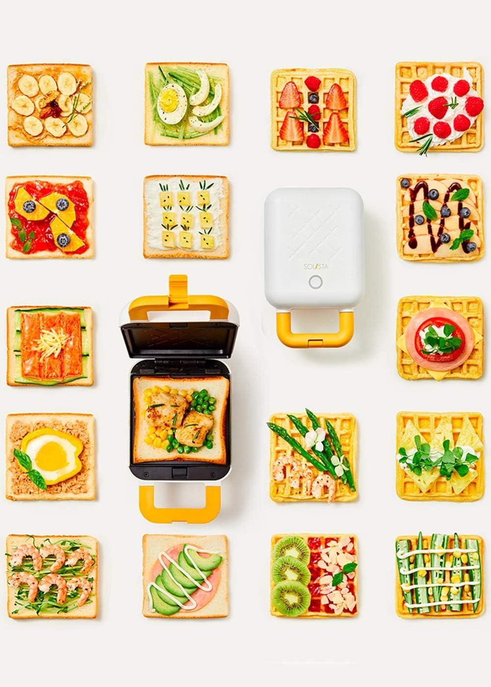 SYZD Waffle Gaufrier éLectrique Gaufres Gaufrettes Waffles Nettoyage Facile AntiadhéSif Automatique De La TempéRature DéTachable RemplaçAbles A A