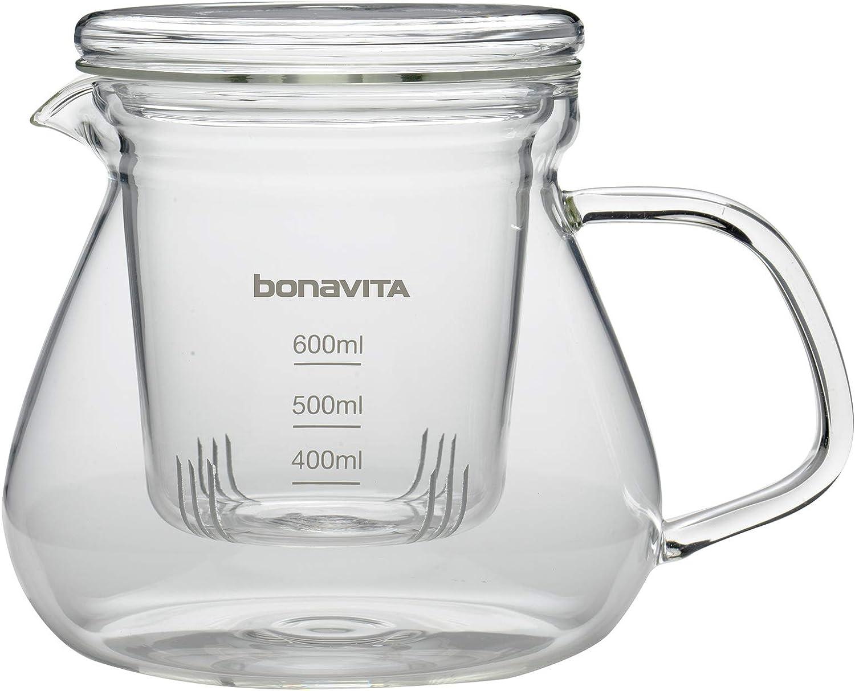 Bonavita Single Cup Slow Drip Pour Over, 600ml, Glass Tea Brewer