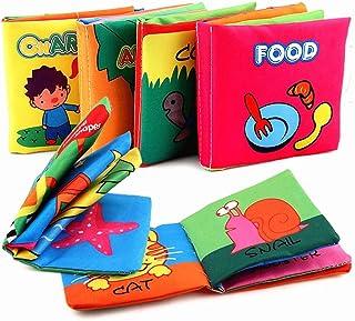مجموعة كتب قماشية لتعزيز اللمس والشعور عند الاطفال في السنة الاولى، 6 كتب من القماش الناعم للرضع والاطفال الصغار في مرحلة ...