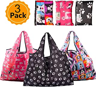 Grocery Bags Reusable Foldable 3 Pack Shopping Bags XXL 50 LBS, Washable, Durable and Lightweight.