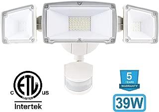 Amico 39W 3 Head LED Security-Lights Motion Outdoor, Motion Sensor Light Outdoor, 3500 Lumens 6000k Waterproof IP65 ETL, Motion-Sensor-Flood Light Exterior Security Light led