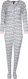 Rene Rofe Ladies Sleepwear One-Piece Footed Onesie Pajama
