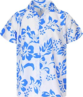 Hawaiian Shirt for Men Funky Casual Button Down Very Loud Shortsleeve Unisex Hibiscus