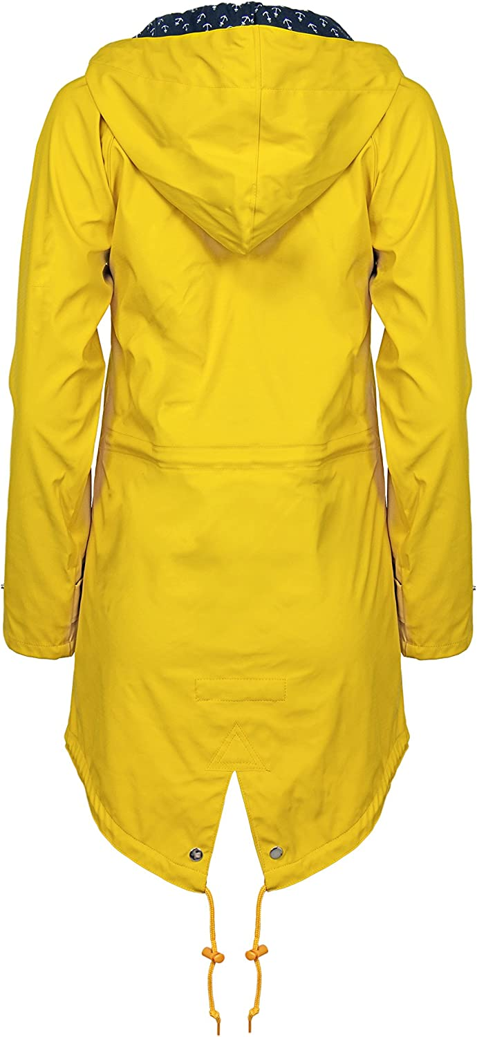 Derbe Damen-Outdoorjacke Deerns Travel Friese Gelb / Blau