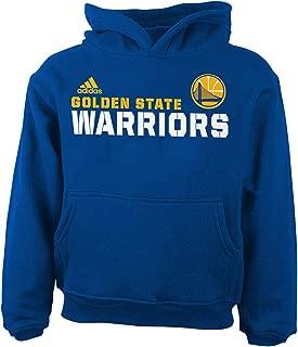 Golden State Warriors Adidas Blue Clean Cut Team Logo Toddler Hoodie