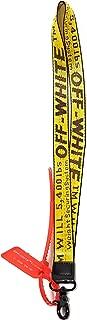 Krispy Soles Off-White Industrial Belt Strap Lanyard: Office Badge: ID Holder: Keychain Canvas Nylon Strap Virgil