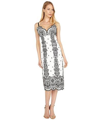 BCBGMAXAZRIA Embroidered Slip Dress