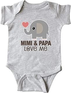 Mimi and Papa Love Me Elephant Infant Creeper