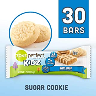 ZonePerfect Kidz Nutrition Bars, No Artificial Flavors or Colors, Sugar Cookie, 1.23 oz, 30 Count