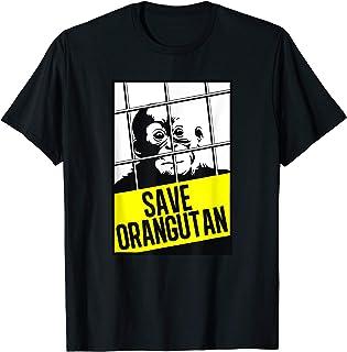 Wildlife Conservation Save the Orangutans Sustainable T-Shirt