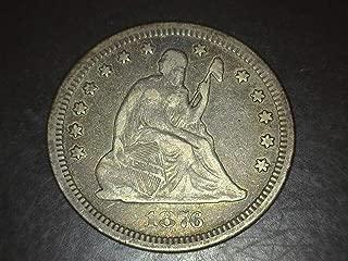 1876 CC Seated Liberty Quarter 25c VF/EF