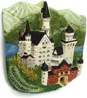 Neuschwanstein Castle. Germany Souvenir 3d Fridge Magnet Resin TOURIST GIFT