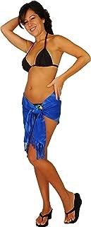 1 World Sarongs Women's Smoked Design Halfmini Swimsuit Cover up Sarong