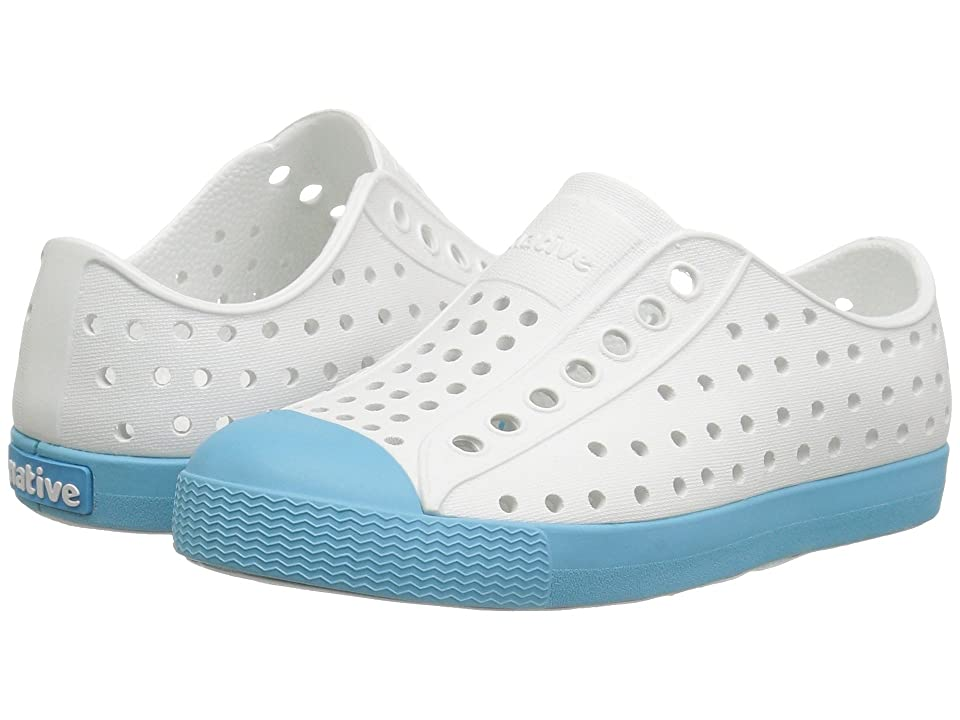 Native Kids Shoes Jefferson (Little Kid/Big Kid) (Shell White/Surfer Blue) Kid