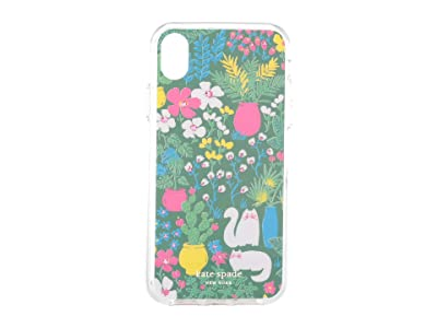 Kate Spade New York Jeweled Garden Posy Phone Case For iPhone XR (Green Multi) Cell Phone Case
